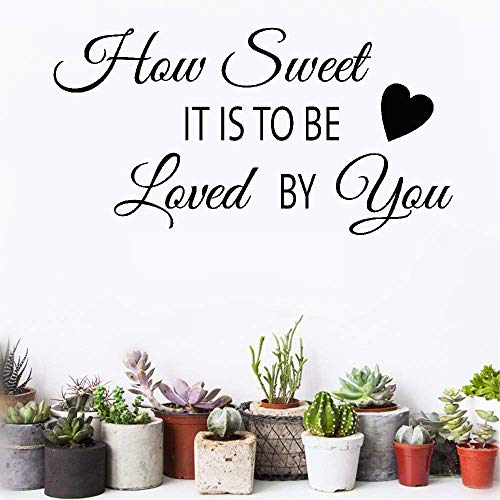 Mierys Vinyl Removable Wall Stickers Mural Wall Decal How Sweet It is to Be Loved by You for Nursery Kids Room -