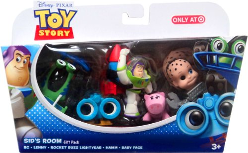 Disney / Pixar Toy Story Exclusive Mini Figure Gift Pack Sids Room RC, Lenny, Rocket Buzz Lightyear, Hamm Baby (Baby Buzz Lightyear)