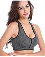 Florentyne Intense Running Yoga with Front Closure Padded Sports Bra