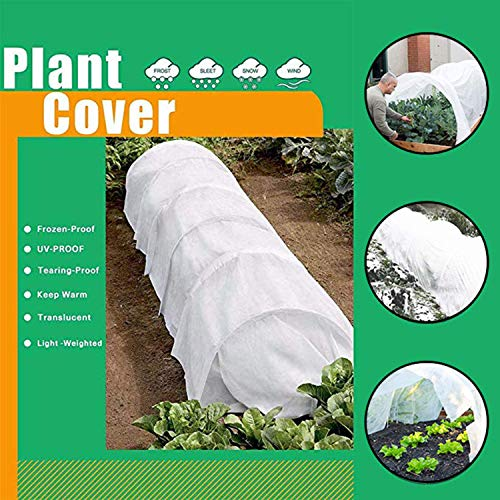 Harrms Plant Cover Freeze Protection for Winter,1.58oz 3FT to 50FT Reusable Plant Covers for Winter Frost Freeze Protection&Animal Protection(7.21FT x 19.68FT)