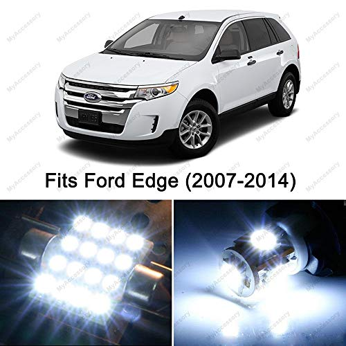 (12 x Premium Xenon White LED Lights Interior Package Upgrade for Ford Edge (2007-2014) )