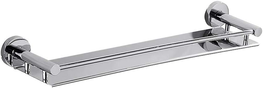 Gr/ö/ße : 44CM Thwarm Bad Racks Wand-304 Edelstahl-Badezimmer-Regal K/üchenwandregale-Dusche Storage Rack Single Layer Multifunktions-Speicher-Halter
