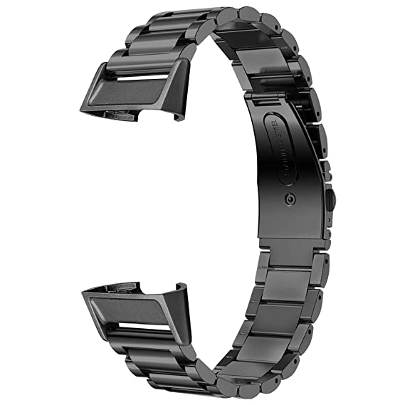 bd99b69c90b9 Dsytom Metal Bands Compatible Fitbit Charge 3  Charge 3 SE Bands Women Men  Small Large