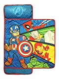 Marvel Super Heroes Kids/Toddler/Children's Nap Mat with Built in Pillow and Blanket Featuring Avengers - Captain America, Hulk, Iron Man, Thor and Spiderman