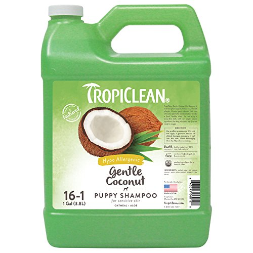 Tropiclean Gentle Coconut Hypoallergenic Puppy Shampoo, 1 (Puppy Shampoo Gallon)