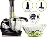 Ovente Pulse Electric  Mini Food Processor and Chopper,1.5 Cup  Capacity , Black (HA015B)