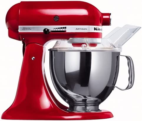 KitchenAid 5KSM150PSER 220-volt Artisan Stand Mixer, 5-Quart, Empire Red