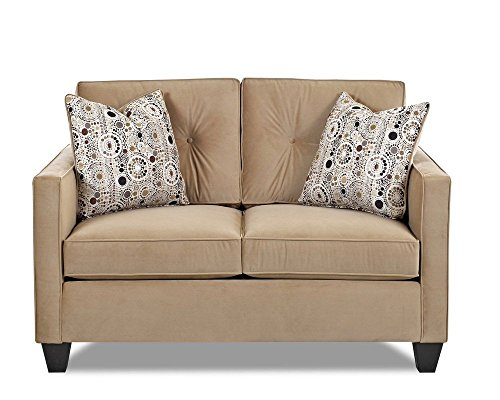 Klaussner Brower Loveseat, 55 by 35 by 37-Inch, Coffee