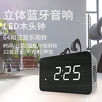 28633e3ac22 Amazon.com  FYios LED alarm clock mute luminous electronic clock ...