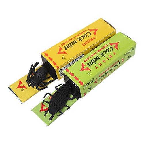 Lovhop Tricky Prank Toys,2Pcs Cockroach Spider Chewing Gum Joke Shock Startle Toys Novel Toy