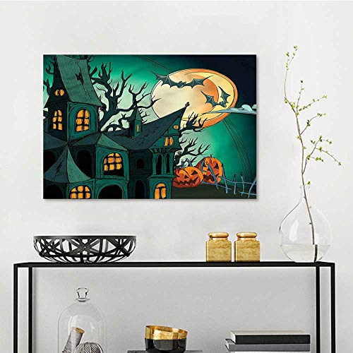 one1love Halloween Abstract Oil Paintings Halloween Haunted Castle