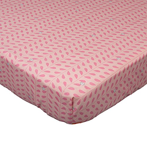 Lolli Living 100% Cotton Crib Fitted Sheet . Little Birds Pa