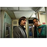 The Darjeeling Limited Jason Schwartzman looking at camera and Amara Karan in green and blue dress looking in train car 8 x 10 Inch Photo offers