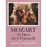 Mozart, W.A. 24 Duos Two Cellos transcribed by Franz Danzi by Johannes Degan - Amadeus Verlag