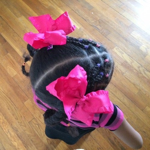 Pink Double Ruffle Boutique Hair Bow
