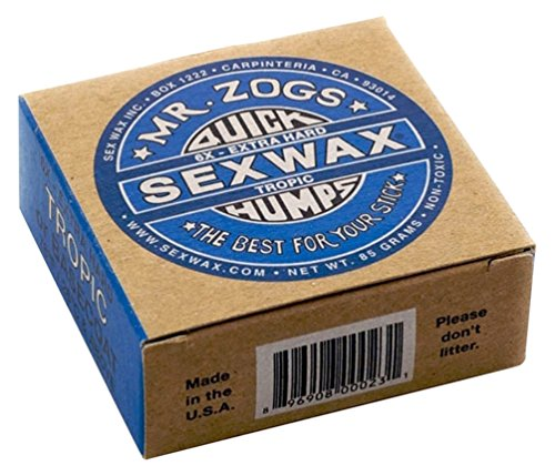 Sex Wax Mr Zogs Quick Humps Warm Surf Wax One Size Basecoat Tropical (Sex Wax For Surf Board)