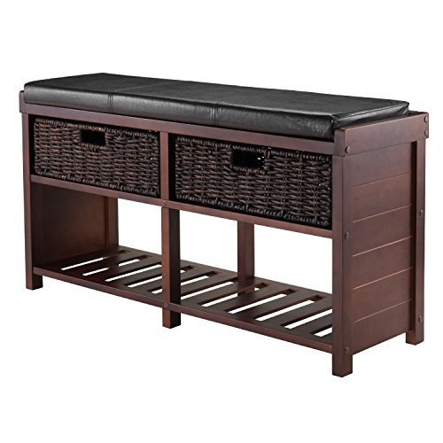 Hall Bench with 2 Baskets