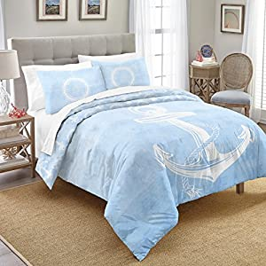 Destinations Southport Comforter Set, Full/Queen, Aqua