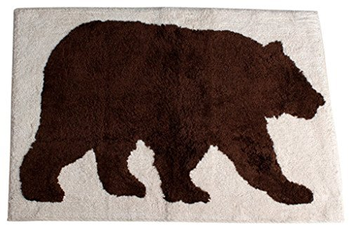 Saturday Knight Natures Trail Cotton Rug, 20-Inch by 30-Inch - Moose Bath Rug
