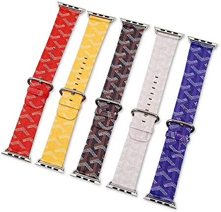 RTYW 本革ストラップ42ミリメートル44ミリメートルバンド38ミリメートル40ミリメートルブレスレットの手首のパターンのレザー腕時計バンド (Band Color : Red, Band Width : 38mm 40mm)