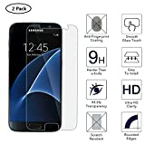 Galaxy S7 Screen Protector,Brightshow Samsung Galaxy S7 Tempered Glass 9H Hardness Screen Protector with Clear Case