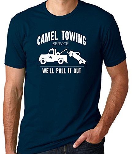 Threaded Tees Men's Camel Towing Company T-Shirt XXLarge Navy Blue
