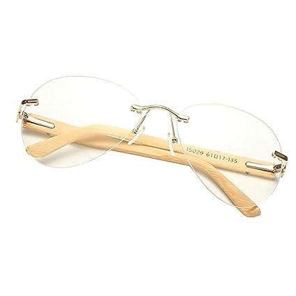 IPOTCH Gafas de Sol de Bambú para Adultos Montura Madera ...