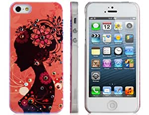 Joyroom Caso Chica Jeweled protectora para iPhone 5