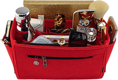 Laela Luxe Felt Handbag Purse Organizer, 14 Pockets, 2 Sizes - Tote & Handbag Shaper (Large, (Speedy 30 Mini)
