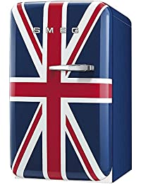 Smeg FAB5URUJ 16 50s Retro Style Series Compact Refrigerator with 1.5 cu. ft. Capacity Absorption Cooling Automatic Defrost and LED Interior Lighting in Union Jack Color with Right