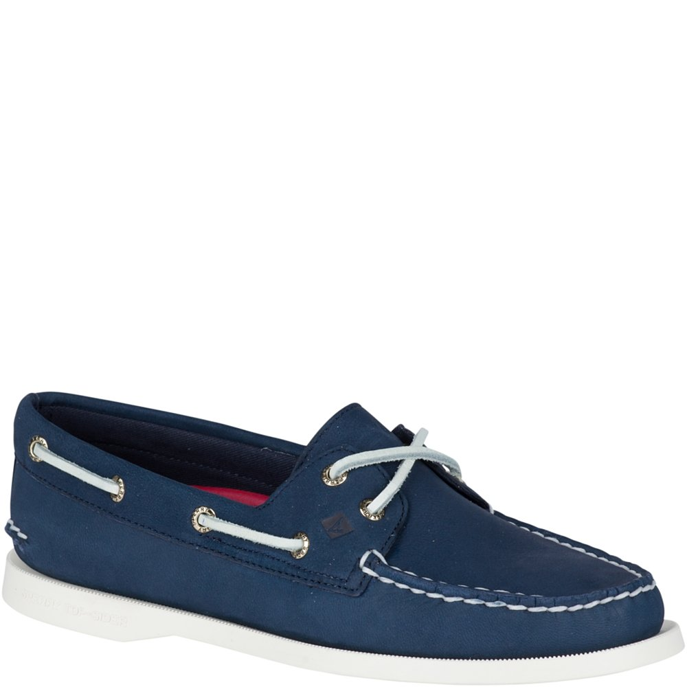 Sperry Top-Sider Women's a/O 2-Eye Boat Shoe, Navy, 7 Medium US