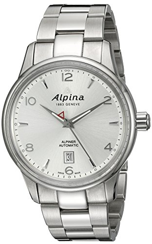 Alpina-Mens-AL-525S4E6B-Alpiner-Analog-Display-Automatic-Self-Wind-Silver-Watch