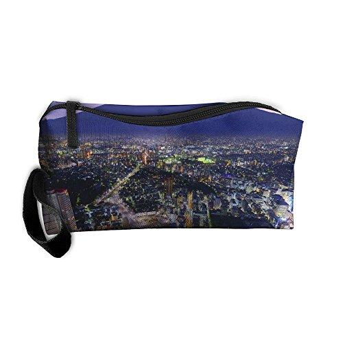 (EWSDa Mt. Fuji And Yokohama Japan Financial City Cosmetic Bag Unisex Multifunctional Receiving Bag )
