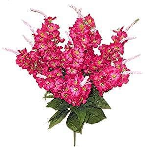 Admired By Nature 12 Stems Artificial Stock Flowers Bush for Home 34