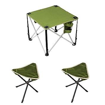 Alf Mesa y Silla de Camping Mesa Plegable de Exterior para ...