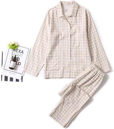 Conjunto de Pijamas Unisex a Cuadros para Adultos, 2 Piezas ...