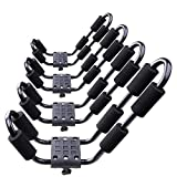 Car Rack & Carriers© Universal 2 Pairs J- Shape Rack HD Kayak Carrier Canoe Boat. Surf Ski Roof Top Mounted on Car SUV Crossbar with Two Sets of Plates for Oval or Flat Shape Crossbars
