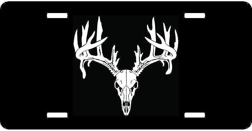 Aqua Buck Head Camo Car Tag Custom Monogram License Plate Frame Set Personalized Hunting Country Antlers