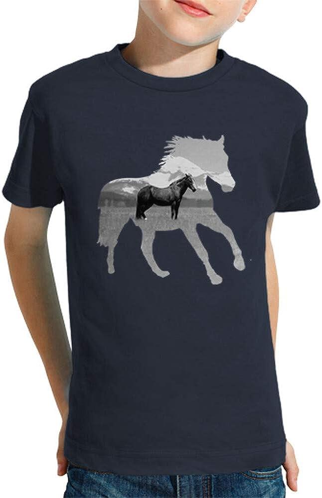 latostadora - Camiseta Caballo Tranquilo para Nino y Nina