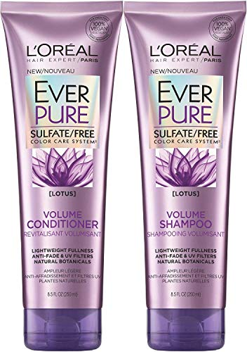 LOreal Paris EverPure Sulfate-Free Color Care System Volume Shampoo & Conditioner with lotus, 8.5 Ounce Each (lotus)