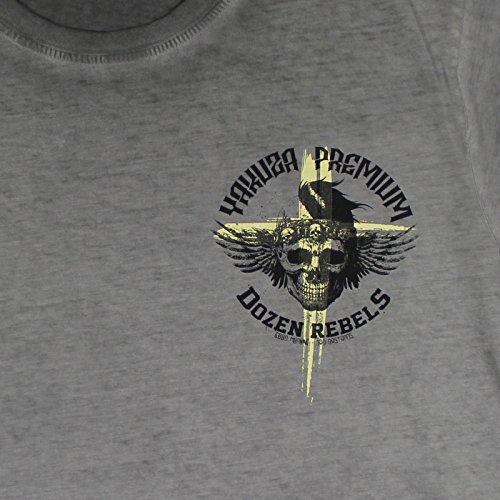 Yakuza Premium T-Shirt Vintage 200 Grey Washed