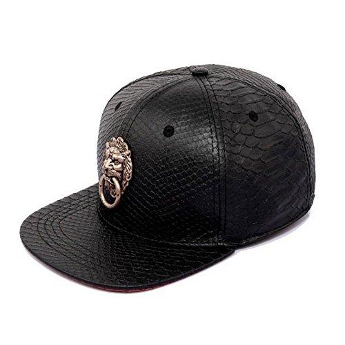Zokey Shop Lion Head Door Snapback Snakeskin Tyrant Basaltic Baseball Cap