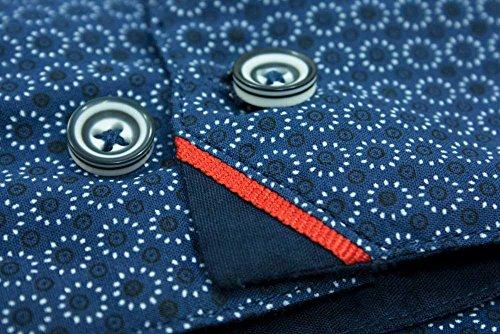 Big Herren D555Marvin Kreis Print Shirt Hoch