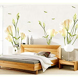 Gigamax tm lilies removable wall sticke art for Amazon mural wallpaper