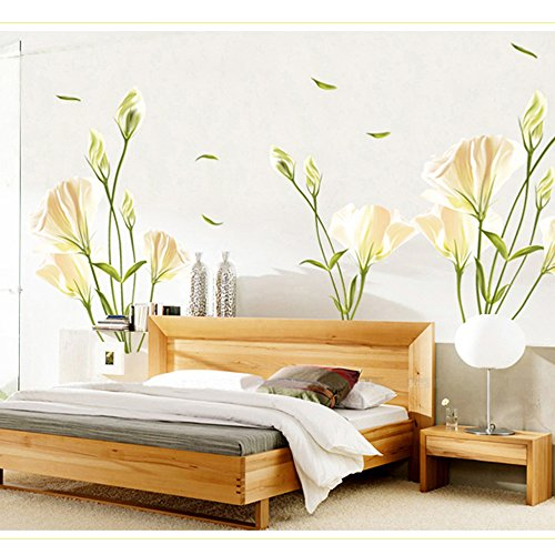 EverTrust(TM)Lilies Removable Wall Sticke Art Decals Mural DIY Wallpaper for Room Decal Stickers Home Decoration Adesivo De (Wallpaper Halloween Iphone)