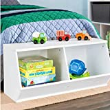 Commercial Cubbies for Storage, Contemporary Kids Piece 2 Cubbies Stackable Angled Toy Organizer for Boys and Girls & E-Book