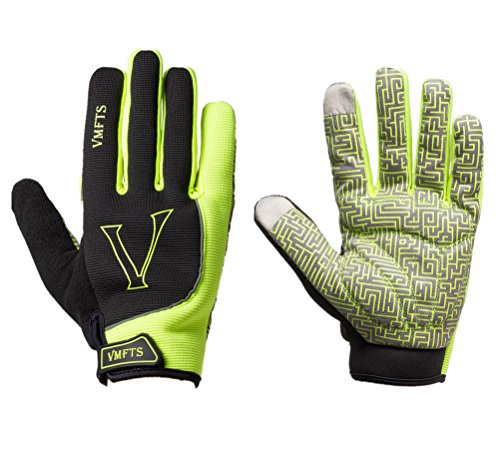 VMFTS Winter Cycling Gloves Driving Gloves Touch Screen Fleece Gloves with Gel Pading Full Finger for Cold Weather Outdoor Sporting Driving Climbing Hunting Fishing Hiking, Green