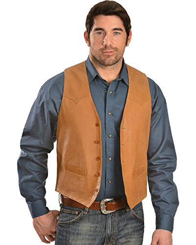 (Scully Men's Lamb Leather Vest Tan 42 R)