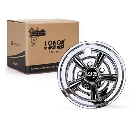 10L0L Golf Cart SS Wheel Covers Hub Caps for Yamaha/Club CAR/EZ-GO Par Car 8