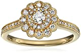 10k Yellow Gold Diamond Engagement Ring (1/2cttw, I-J Color, I2-I3 Clarity), Size 7